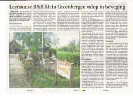 RP Klein Groenbergen volop in beweging