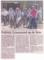 Politiek Eemsmond op de fiets